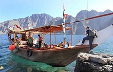 Dubaï > Khasab > départ dans le Fjord Sham