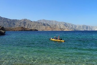 Kayaking in the fjords of Arabia